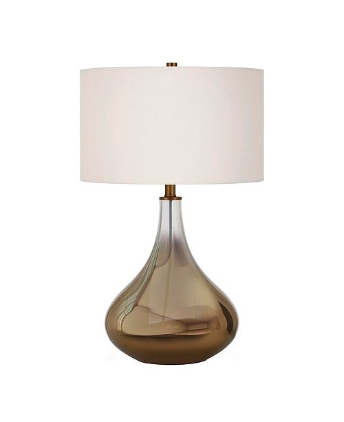 Hudson & Canal Mirabella Table Lamp In Ombre Brass Colored Glass
