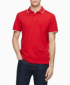 Men's Athleisure Regular-Fit Stretch Tipped Polo Shirt