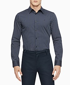 Men's Slim-Fit Stretch Pinstripe Shirt