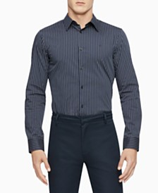 Calvin Klein Men's Slim-Fit Stretch Pinstripe Shirt