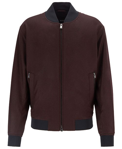 Hugo Boss BOSS Men's Blouson-Style Bomber Jacket