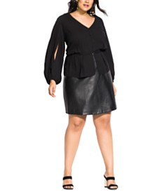 City Chic Trendy Plus Size Miss Thing Top