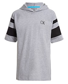 Calvin Klein Jeans Big Boys Sport Hooded Logo Sweatshirt