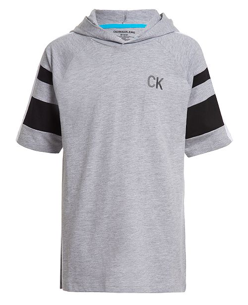 Calvin Klein Big Boys Sport Hooded Logo Sweatshirt