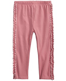 Baby Girls Side-Ruffle Leggings, Created for Macy's