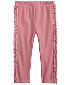 First Impressions Baby Girls Side-Ruffle Leggings, Created for Macy's
