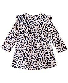 First Impressions Baby Girls Leopard-Print Dress, Created for Macy's