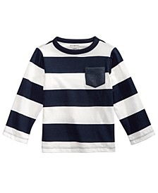 Baby Boys Cotton Rugby Stripe T-Shirt, Created for Macy's