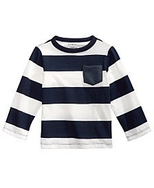 First Impressions Baby Boys Cotton Rugby Stripe T-Shirt, Created for Macy's