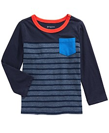 First Impressions Toddler Boys Cotton Striped T-Shirt, Created for Macy's