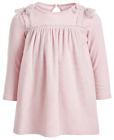First Impressions Baby Girls Layered-Look Sparkle Tulle Dress, Created for Macy's