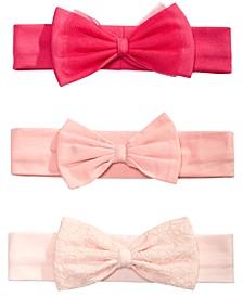 Baby Girls 3-Pk. Bow Headbands, Created for Macy's