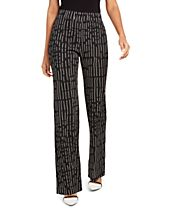Alfani Printed Pull-On Pants, Created for Macy's