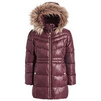 Michael Kors Big Girls Stadium Puffer Jacket with Removable Faux-Fur-Trimmed Hood (various colors)