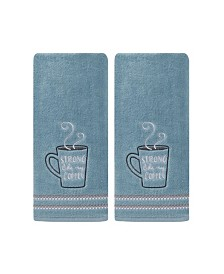 Saturday Knight Ltd Strong Coffee 2 Piece Hand Towel Set