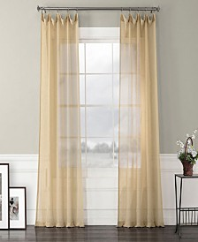 """Exclusive Fabrics Furnishings Solid Faux Linen Sheer Curtain 108"""" x 50"""" Curtain Panel"""