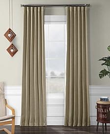"Exclusive Fabrics Furnishings Faux Linen Blackout Curtain 84"" x 50"" Curtain Panel"