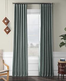 "Exclusive Fabrics Furnishings Faux Linen Blackout Curtain 108"" x 50"" Curtain Panel"