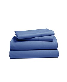 Addy Home 4- Piece Solid Cotton Percale Sheet Set, King