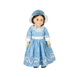 The Queen's Treasures 1800's American Historic Style Dress and Hat
