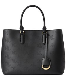 Lauren Ralph Lauren Leather Marcy Satchel