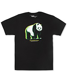 Men's Glowing Panda Graphic T-Shirt