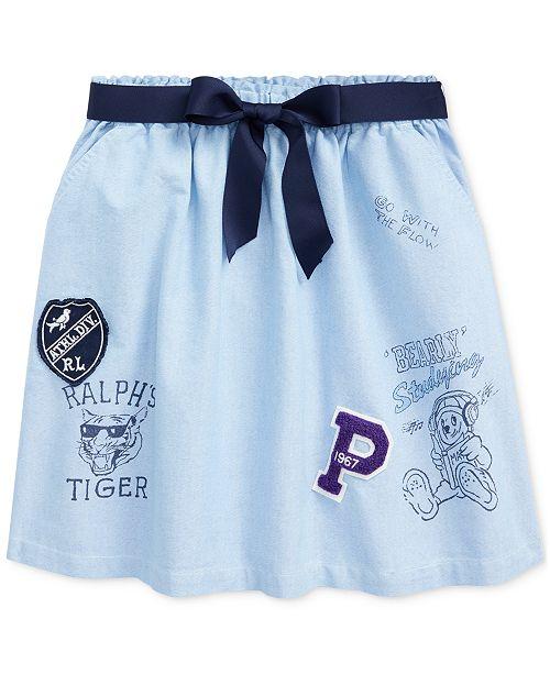 Polo Ralph Lauren Big Girls Classic Oxford Varsity Skirt