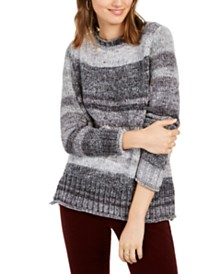 Style & Co Chenille Space-Dyed Sweater, Created for Macy's