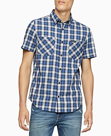 Men's Ombre Plaid Shirt