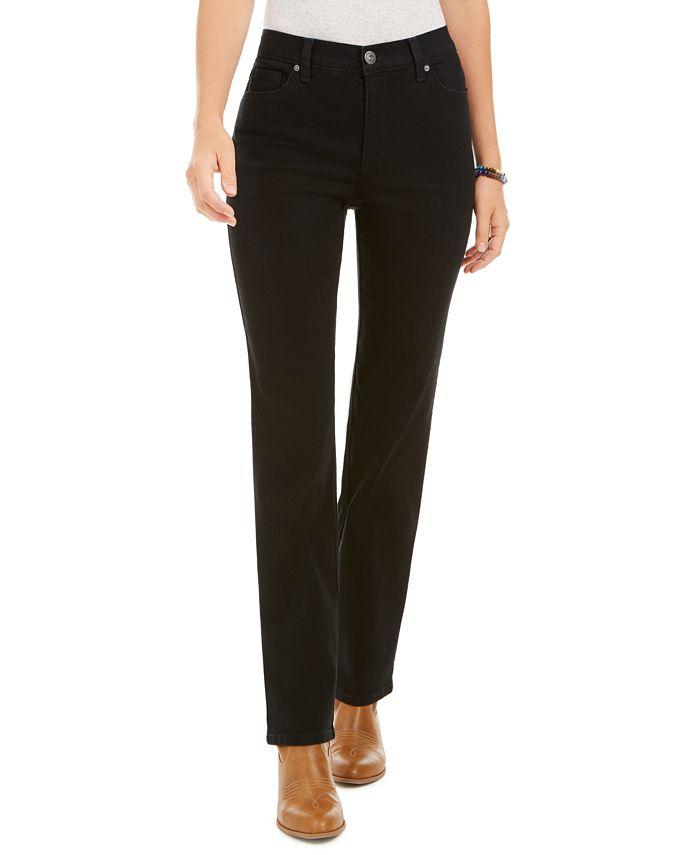 Style & Co - High Rise Straight-Leg Jeans