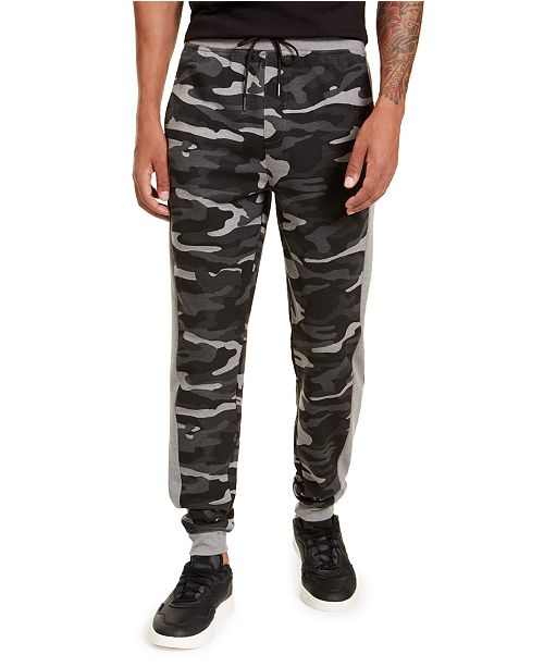Ideology Men's Colorblocked Camo Joggers, Created for Macy's
