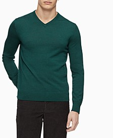 Men's Merino Wool  V-Neck Sweater