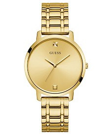 GUESS Women's Diamond-Accent Gold-Tone Stainless Steel Bracelet Watch 40mm