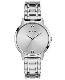 GUESS Women's Diamond-Accent Stainless Steel Bracelet Watch 40mm