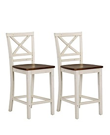 Amelia 2-Pack Counter Height Barstool, Quick Ship