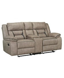 Acropolis Manual Motion Reclining Glider Loveseat