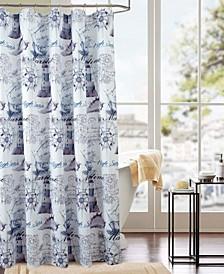 Classic Maritime Printed Shower Curtain