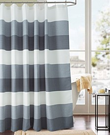 Glamor Waffle Jacquard Shower Curtain