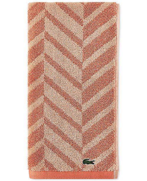 """Lacoste Herringbone Cotton 16"""" x 30"""" Hand Towel"""