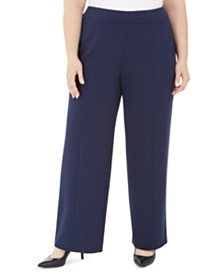 JM Collection Plus Size Seamed Pants, Created For Macy's