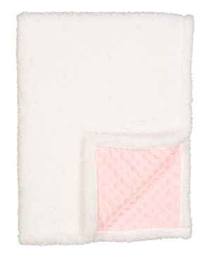 Baby Mode Signature 3 Stories Trading  Infant Popcorn Mink Sherpa Blanket In White