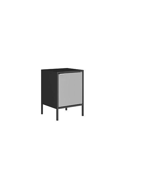 Manhattan Comfort Smart Metal Accent End Table