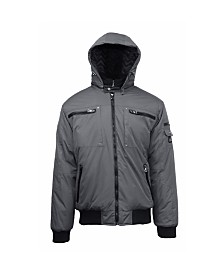 Spire By Galaxy Men's Heavyweight Moto Jacket
