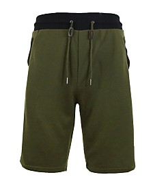 Galaxy By Harvic Men's French Terry Sweat Shorts with Contrast Trim