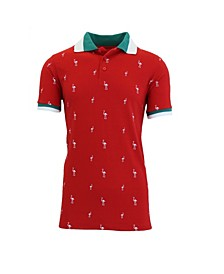 Men's Short Sleeve Printed Pique Polo Shirts