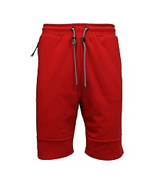 Galaxy By Harvic Tech Fleece Shorts with Heat Seal Side Zipper