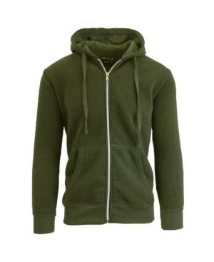 Men's Full Zip Fleece Hooded Sweatshirt