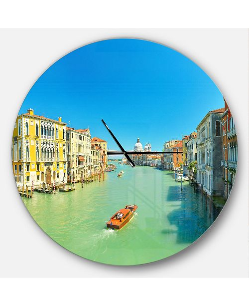 Design Art Designart Oversized Coastal Round Metal Wall Clock