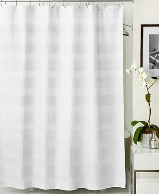 hotel collection woven pleat shower curtain - shower curtains