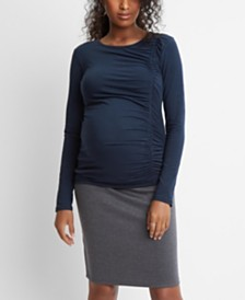Stowaway Collection Maternity Ruched Side Seam Top